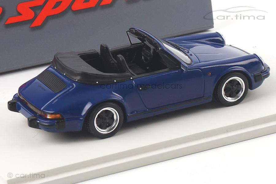 Porsche 911 Carrera 3.2 Cabriolet blau Spark 1:43 S4468