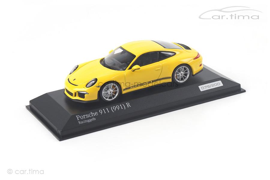 Porsche 911 (991) R Racinggelb Minichamps 1:43 CA04316095