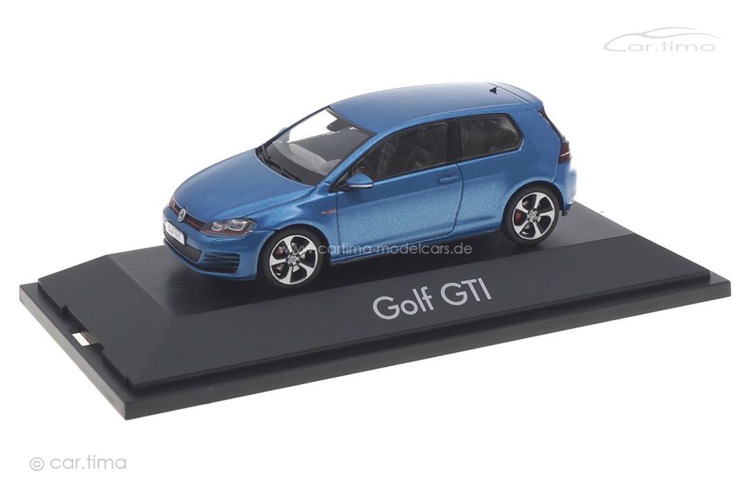 VW Golf VII GTI Pacific blue met. Herpa 1:43 070775