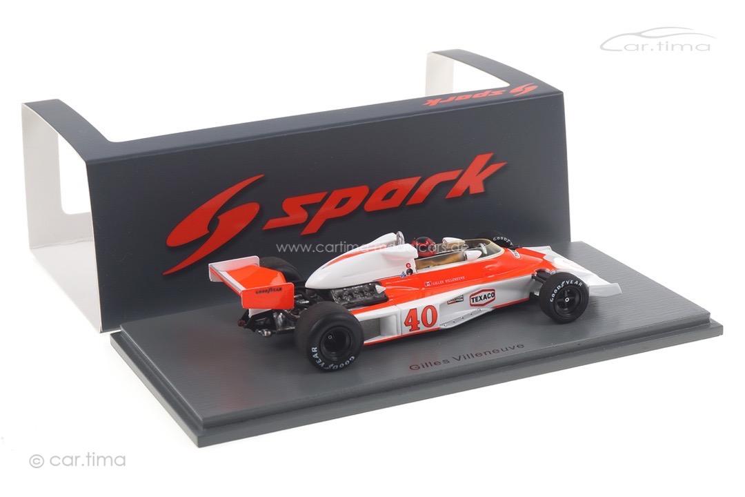 McLaren M23 British GP 1977 Gilles Villeneuve Spark 1:43 S5744