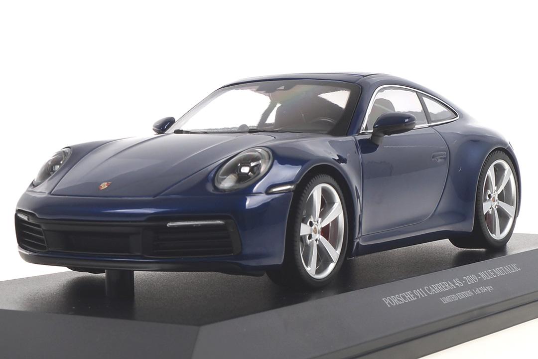 Porsche 911 (992) Carrera 4S Enzianblau Minichamps 1:18 153067327