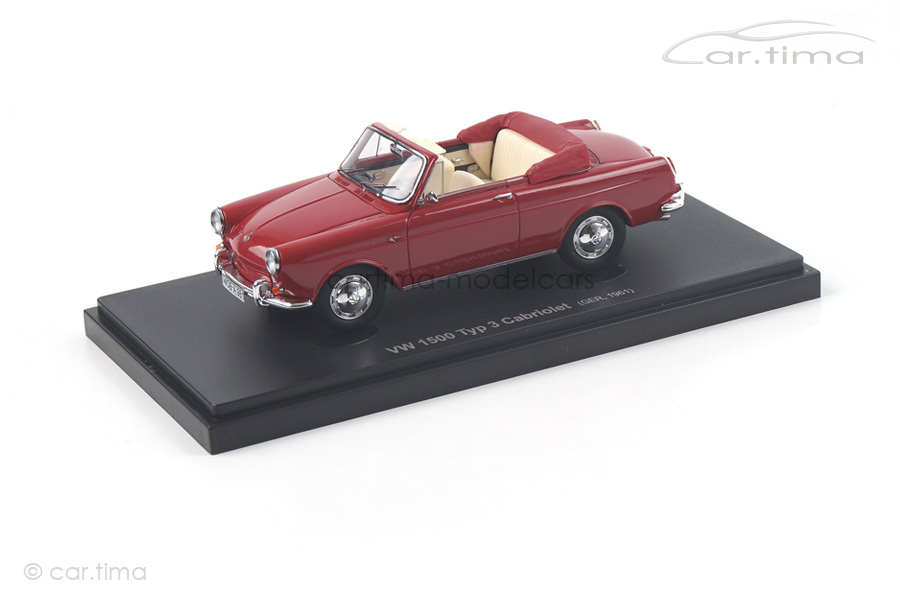 VW 1500 Typ 3 Cabriolet 1961 rot Avenue43 1:43 60003