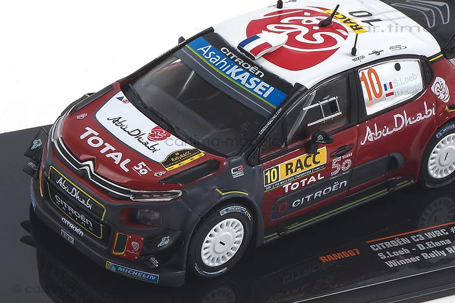 Citroen C3 WRC Rallye Catalunya 2018 Loeb/Elena IXO 1:43 RAM687