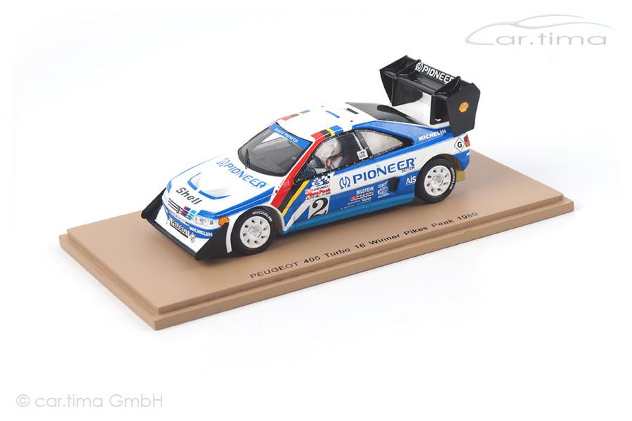Peugeot 405 Turbo 16 Winner Pikes Peak 1989 Robby Unser Spark 1:43 43PP89