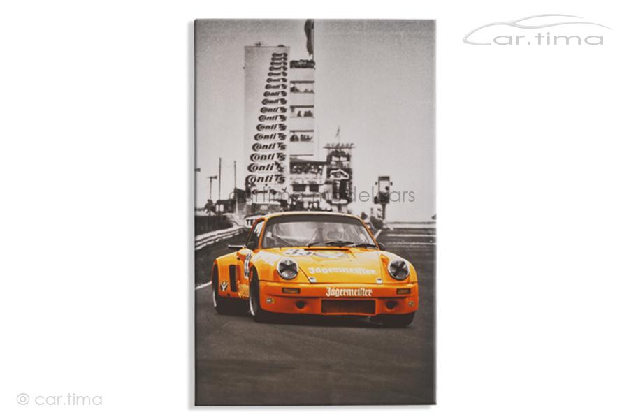 Kunstdruck auf Leinwand/Keilrahmen Porsche Carrera RSR 3.0 Nürburgring 1975 50x80 cm