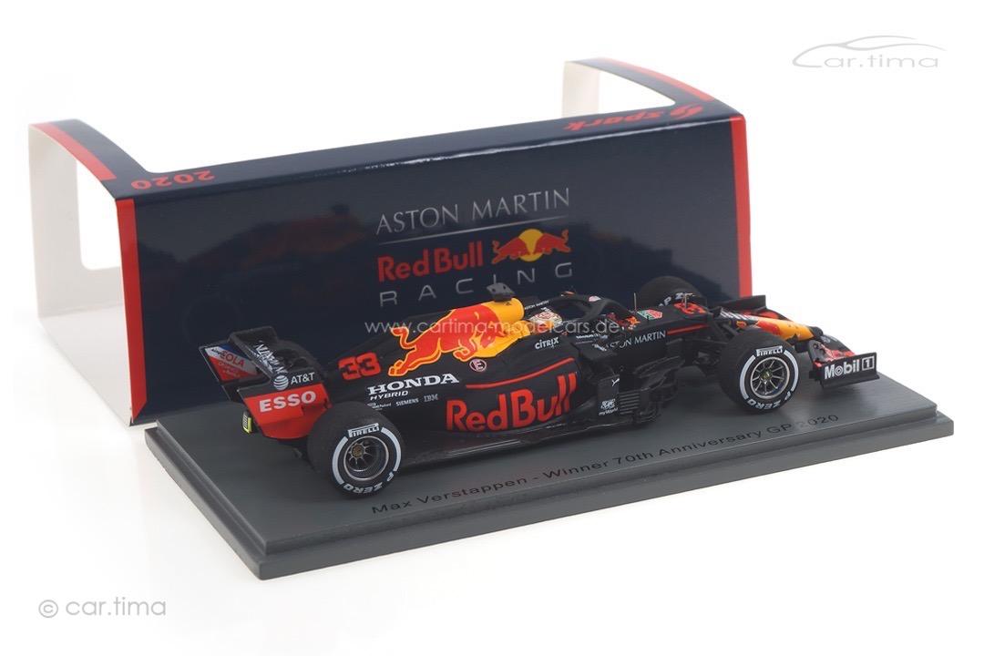 Aston Martin Red Bull Racing RB16 Winner GP 70th Anniversary Max Verstappen Spark 1:43 S6479