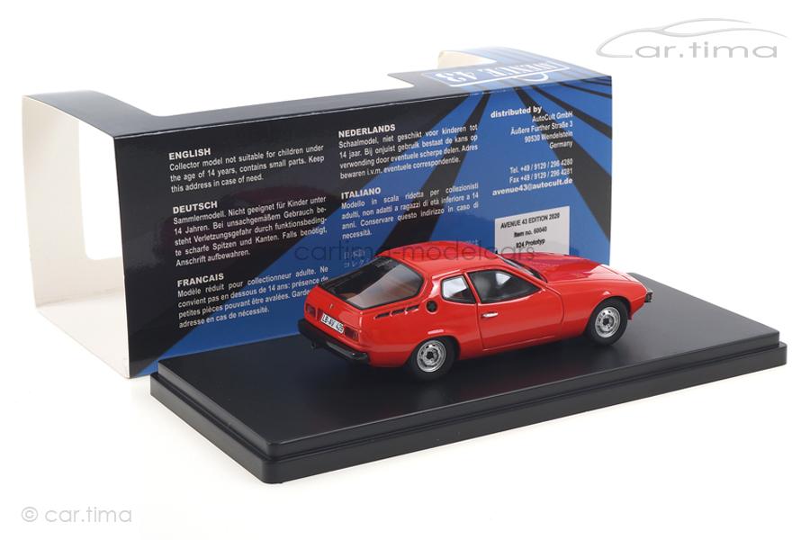 Porsche 924 Prototyp indischrot Avenue43 1:43 60040