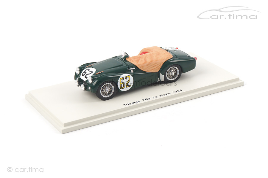 Triumph TR2 24h Le Mans 1954 Brown/Wadswoth Spark 1:43 S4453