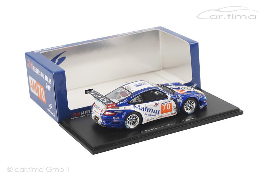 Porsche 911 (997) GT3 RSR 24h Le Mans 2011 Bourret/Gibon/Belloc Spark 1:43 S3422