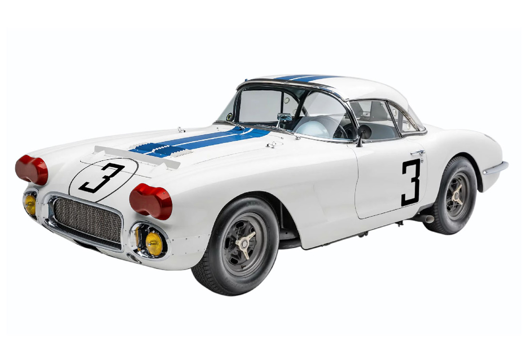 Cunningham Chevrolet Corvette Class Winner 24h Le Mans 1960 Real Art Replicas 1:18 RAR18011