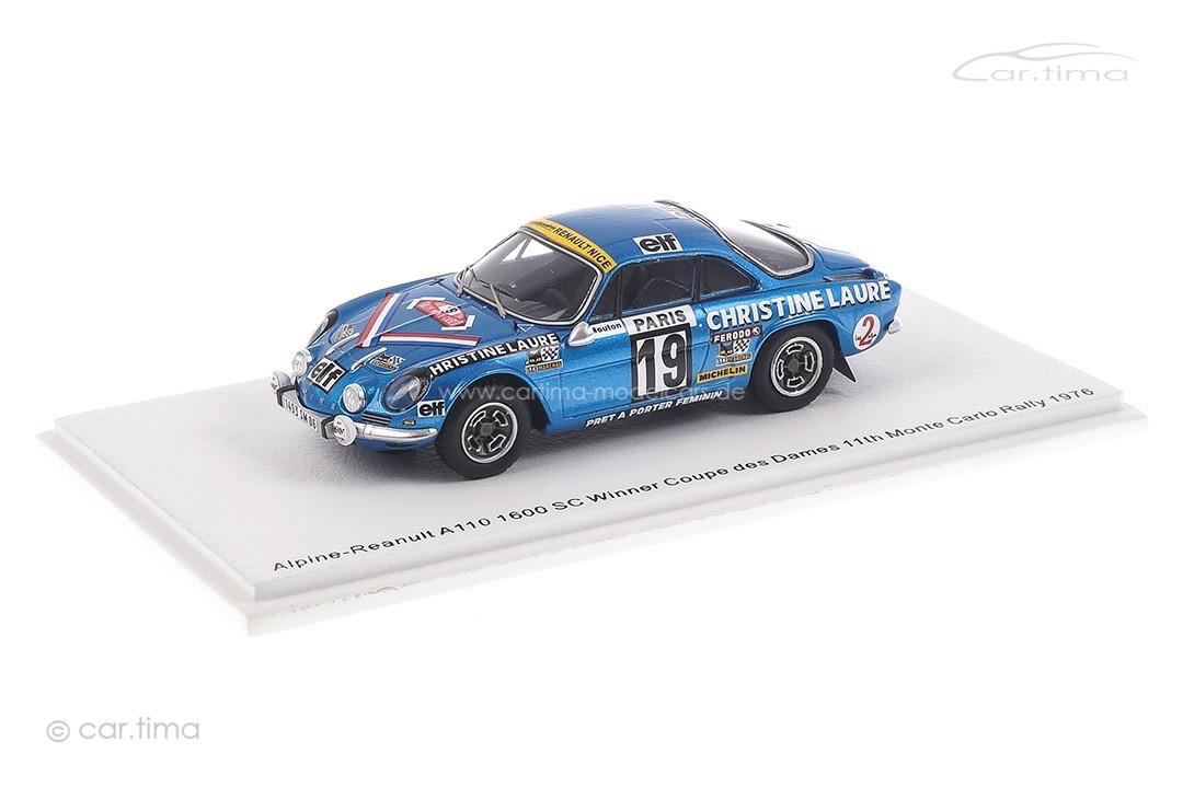 Alpine-Renault A110 1600 SC Rallye Monte Carlo 1976 Mouton/Conconi Spark 1:43 S6116