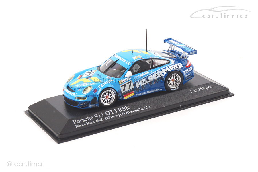 Porsche 911 GT3 RSR 24h LeMans 2008 Felbermayr Minichamps 1:43 400087877