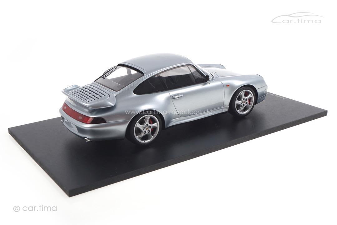 Porsche 911 (993) Turbo silber Spark 1:18 18S468