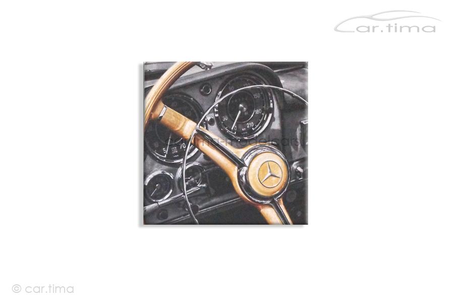 Kunstdruck auf Leinwand/Keilrahmen Mercedes-Benz 190 SL Interior 45x45 cm