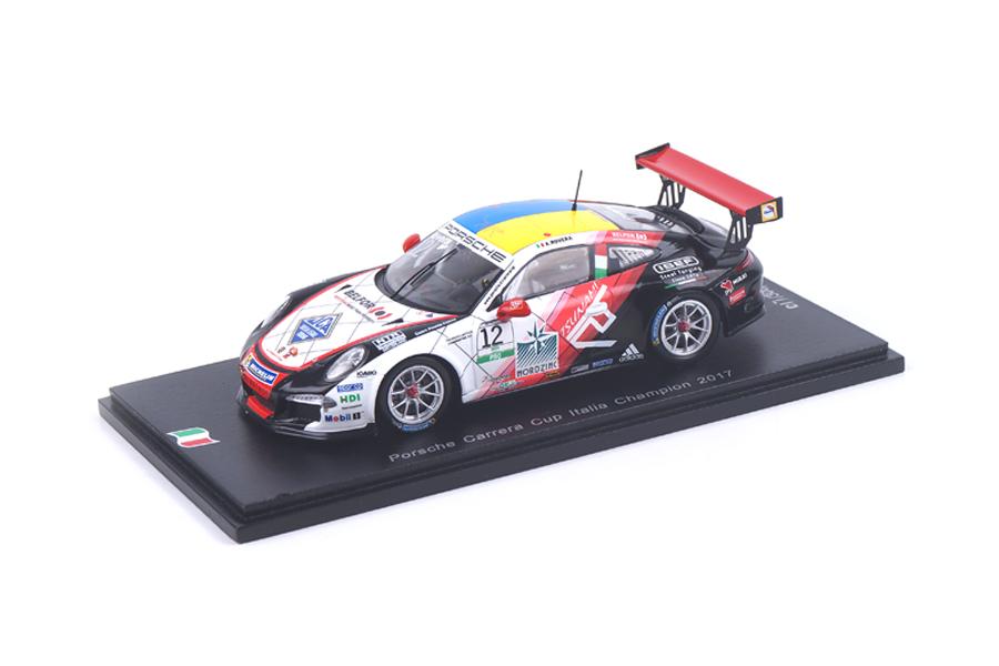Porsche 911 GT3 Cup Champion Carrera Cup Italia 2017 Alessio Rovera Spark 1:43 SI006