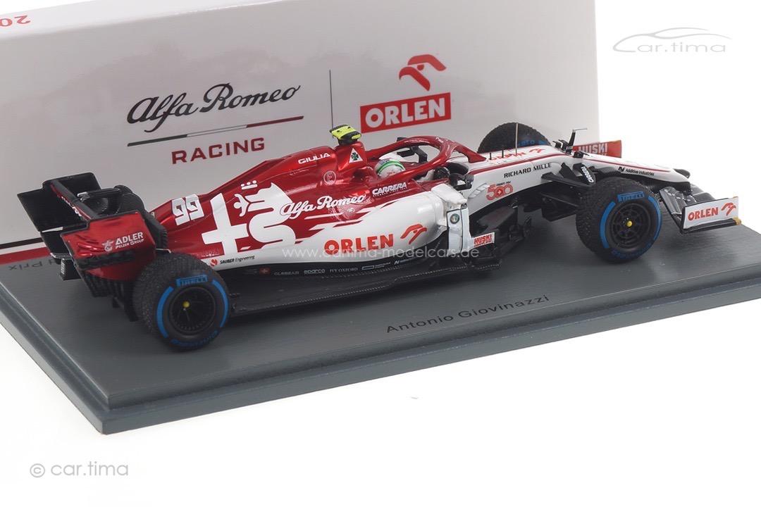 Alfa Romeo Racing C39 GP Türkei 2020 Antonio Giovinazzi Spark 1:43 S6493