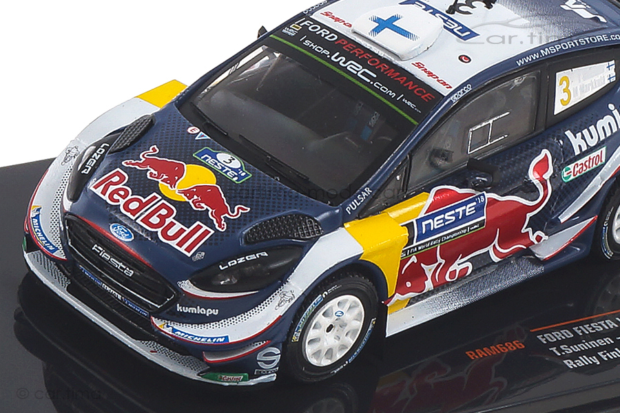 Ford Fiesta WRC Rallye Finnland 2018 Suninen/Markkula IXO 1:43 RAM686