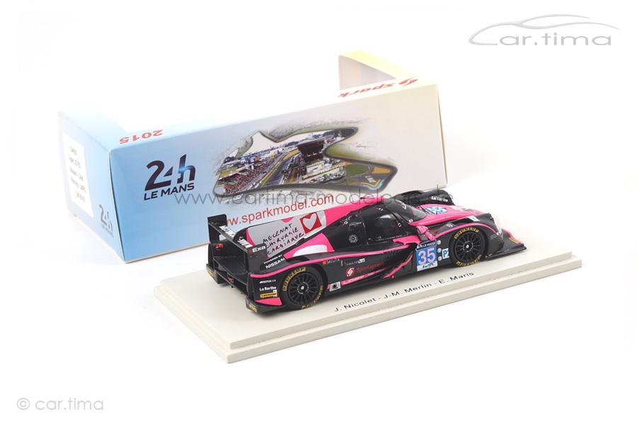 Ligier JS P2-Nissan 24h Le Mans 2015 Nicolet/Merlin/Maris Spark 1:43 S4650