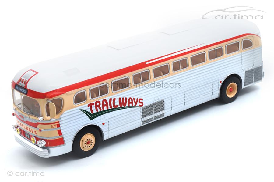 GMC PD-3751 Trailways IXO 1:43 BUS015