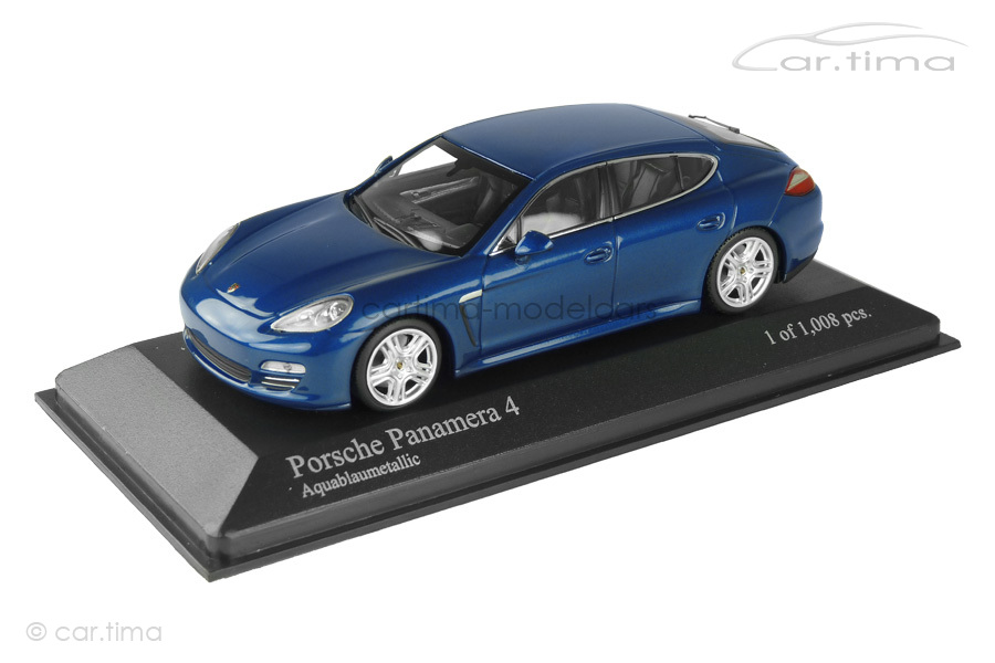 Porsche Panamera 4 (970.1) 2011 saphirblau met. Minichamps 1:43 400068220
