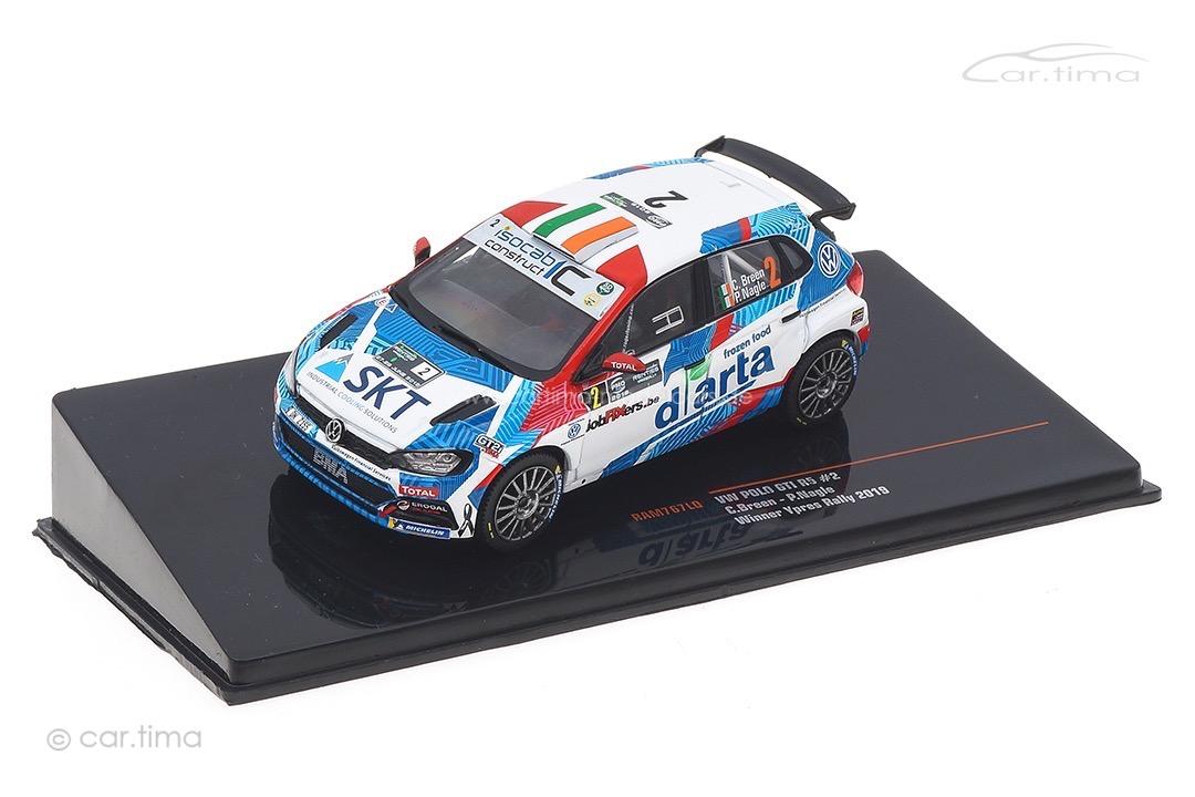 VW Polo GTI R5 Winner Rallye Ypres 2019 Breen/Nagle IXO 1:43 RAM767LQ