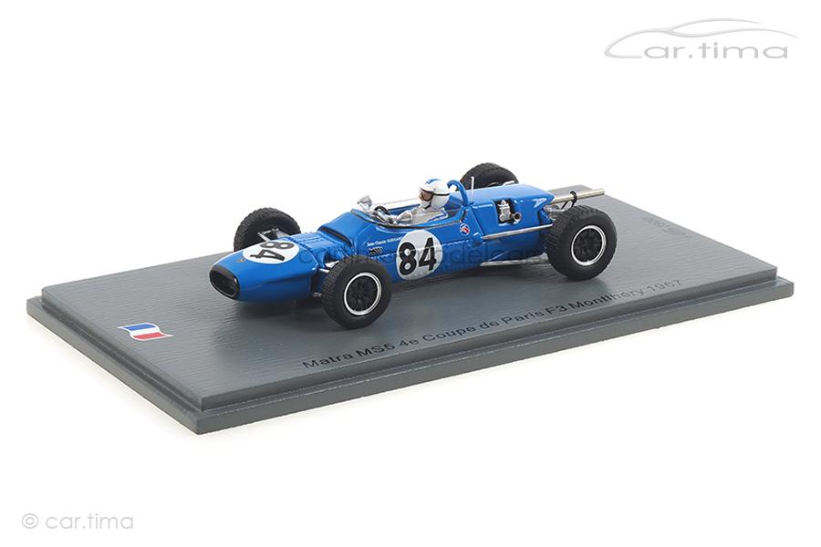Matra MS5 Coupe de Paris F3 Montlhéry 1967 Jean-Claude Guénard Spark 1:43 SF189