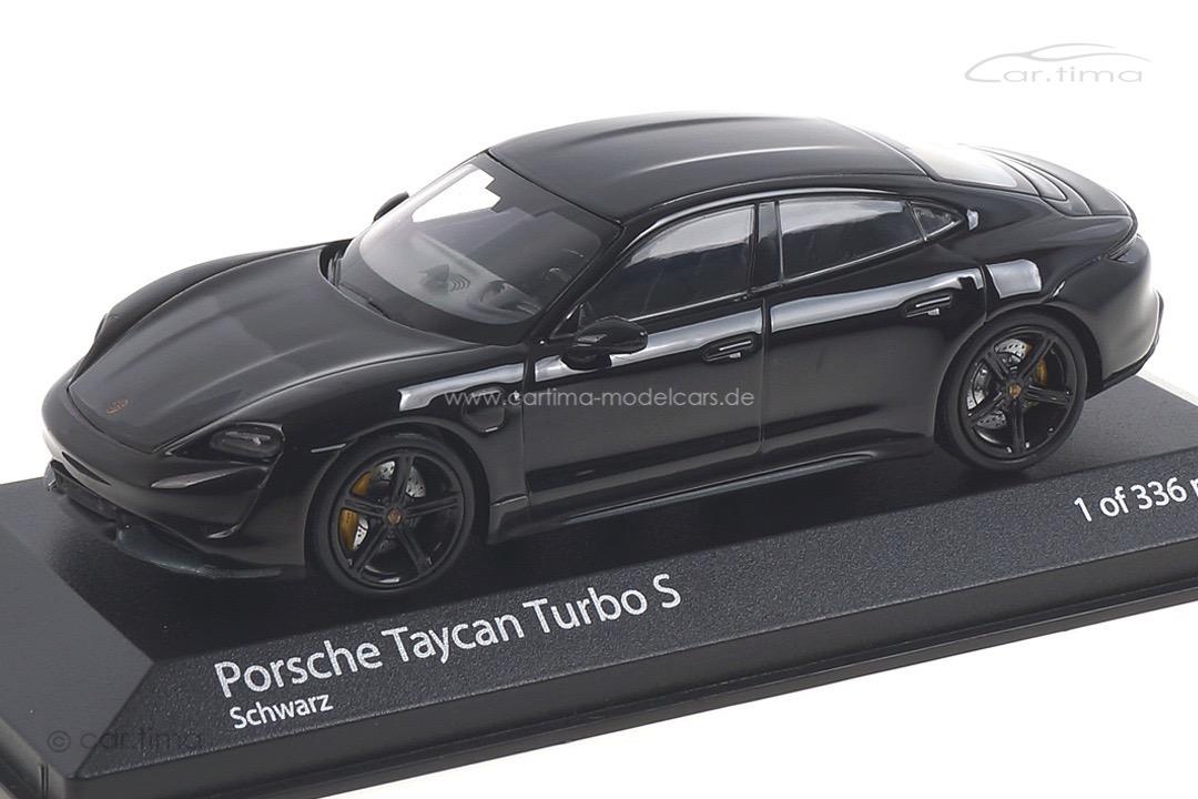 Porsche Taycan Turbo S Schwarz Minichamps 1:43 410068470