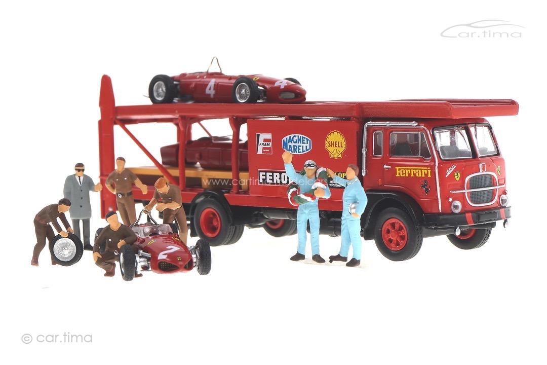 Set Renntransporter Fiat 642 + Ferrari 156 Brekina 1:87 58475