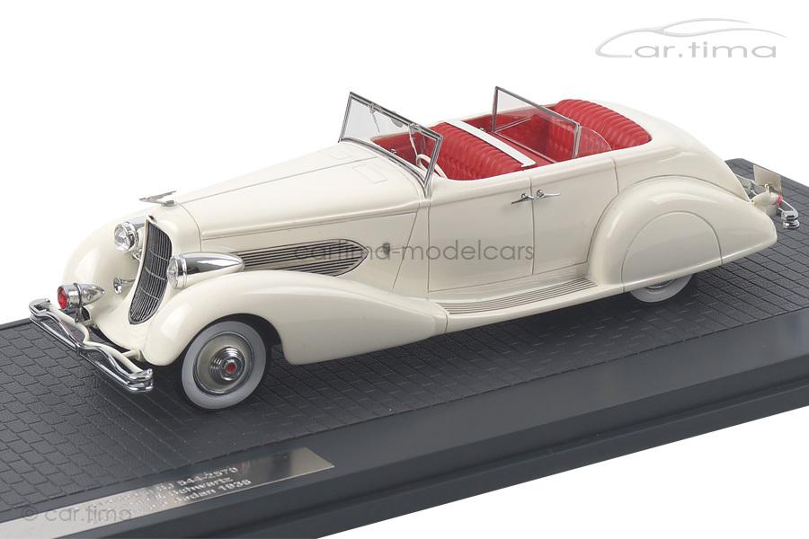 Duesenberg SJ 544-2570 Bohman & Schwartz 1936 weiß Matrix Scale Models MX40406-041