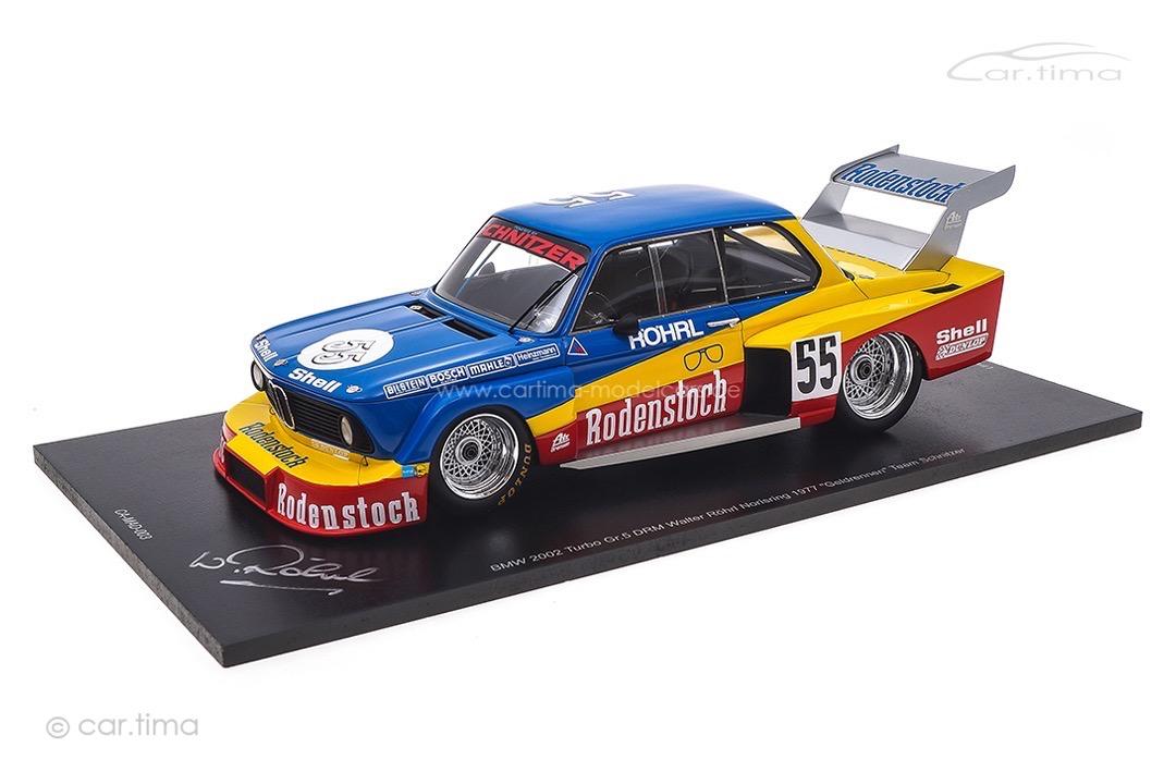 BMW 2002 Turbo Schnitzer DRM Norisring 1977 Originalsignatur Walter Röhrl Spark 1:18 CA-MAD-003-SIGN