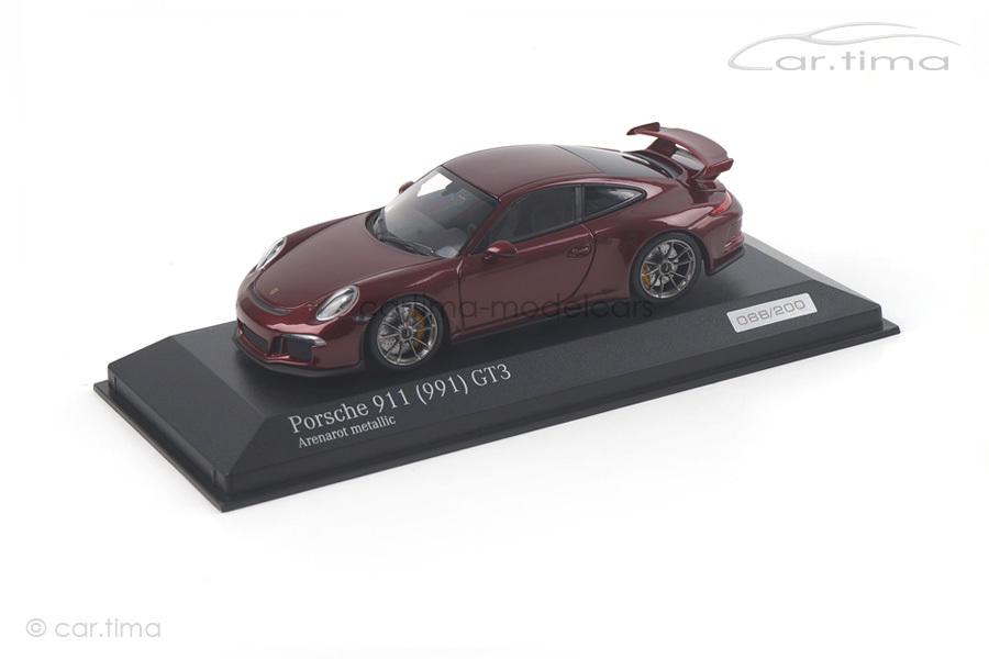 Porsche 911 (991) GT3 Arenarot met. Minichamps 1:43 CA04316087