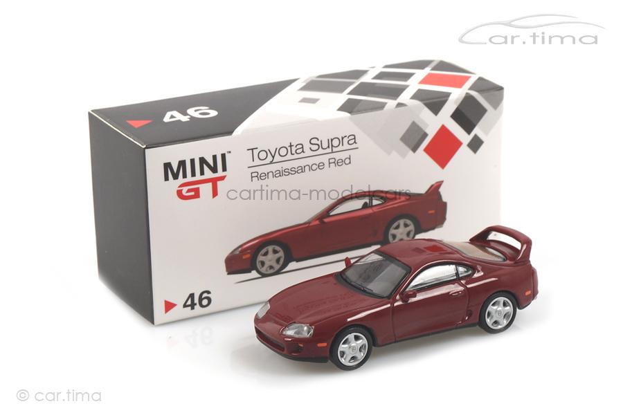 Toyota Supra (LHD) Renaissance red MINI GT 1:64 MGT00046-L