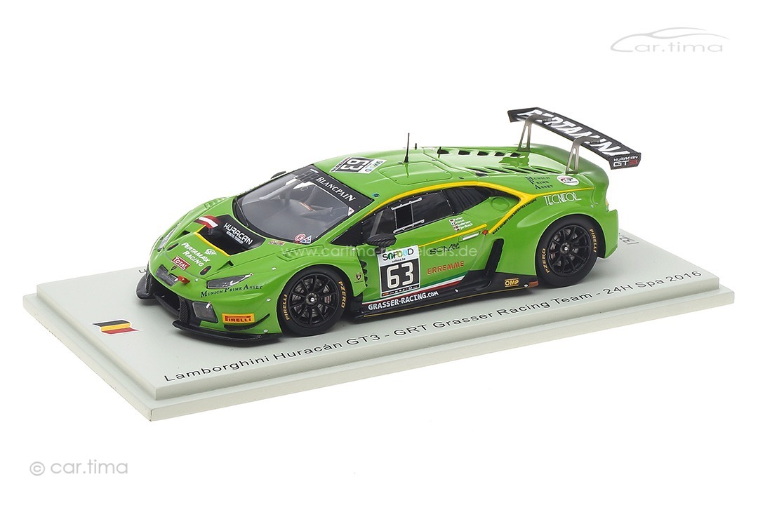Lamborghini Huracán GT3 24h Spa 2016 Andersen/Alessi/Fjordbach/Pohler Spark 1:43 SB287