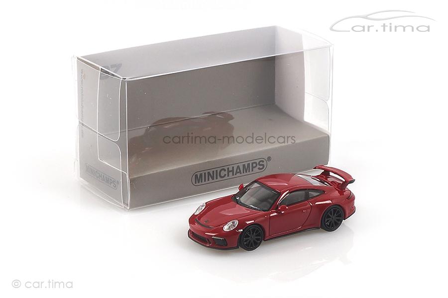 Porsche 911 (991 II) GT3 Karminrot Minichamps 1:87 870067322