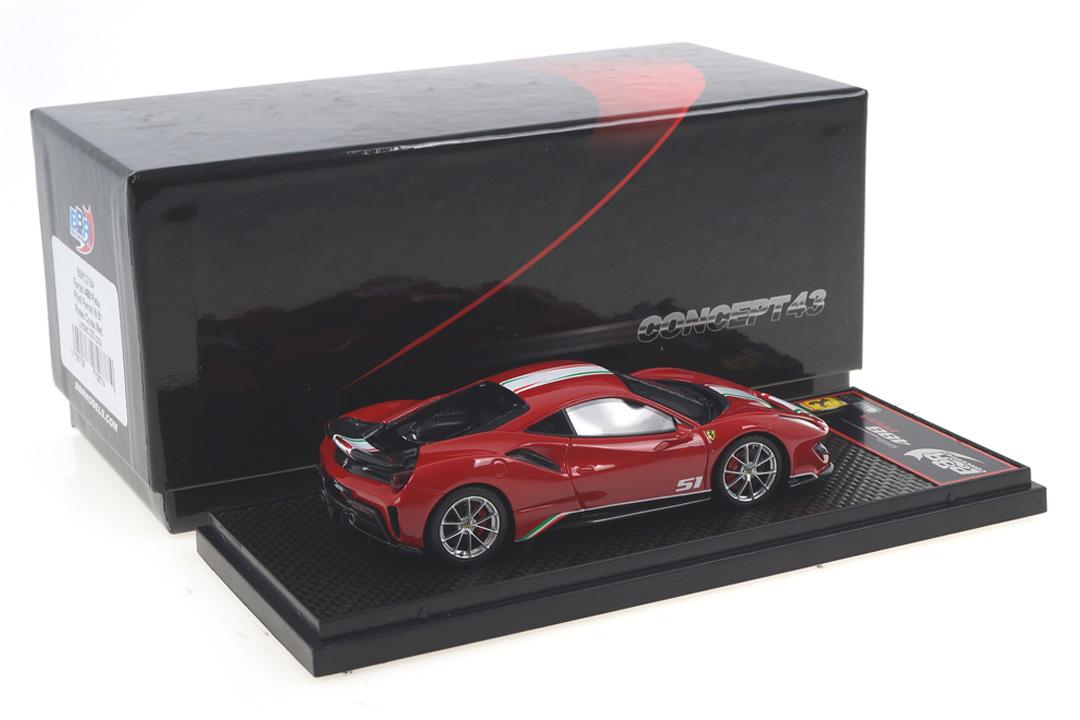 Ferrari 488 Pista Piloti Rosso Corsa 322 BBR 1:43 BBRC216A
