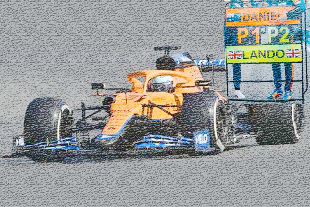 McLaren MCL35M GP Italien 2021 Lando Norris/pit board Spark 1:43 S7690