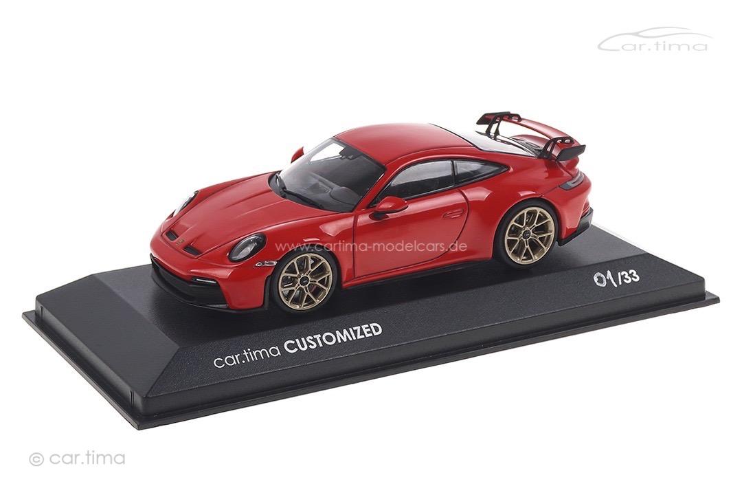 Porsche 911 (992) GT3 Indischrot China Edition Minichamps car.tima CUSTOMIZED 1:43