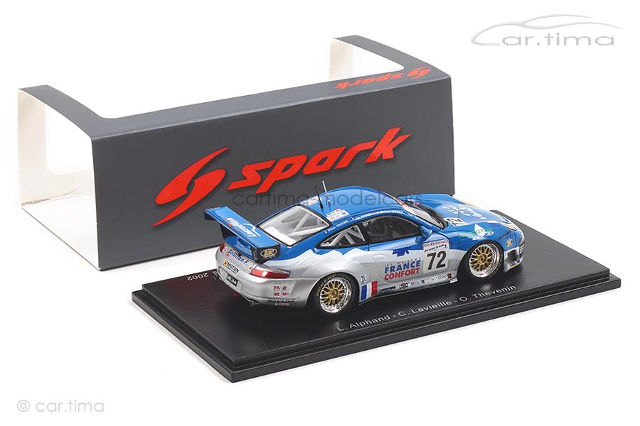 Porsche 911 (996) GT3 RS 24h Le Mans 2002 Alphand/Lavielle/Thévenin 1:43 Spark S5516