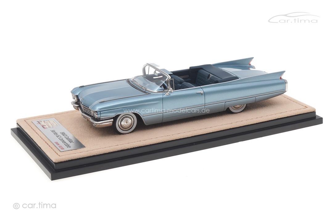 Cadillac Series 62 Convertible Lucerne blue met. Stamp Models 1:43 STM60305