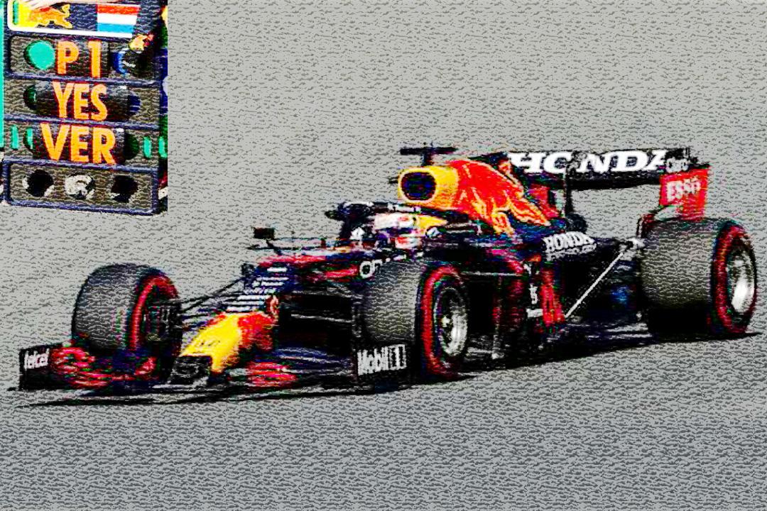 Red Bull Racing RB16B Winner GP Niederlande 2021 Max Verstappen/pit board Spark 1:43 S7686