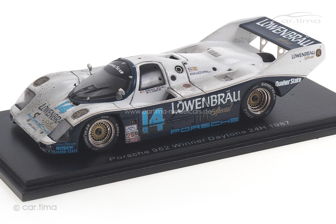 Porsche 962 Winner 24h Daytona 1987 Bell/Holbert/Robinson/Unser Jr. car.tima FINISH LINE 1:43