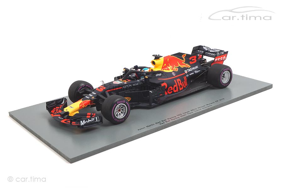 Aston Martin Red Bull Racing RB14 Winner GP Monaco 2018 Daniel Ricciardo Spark 1:18 18S351