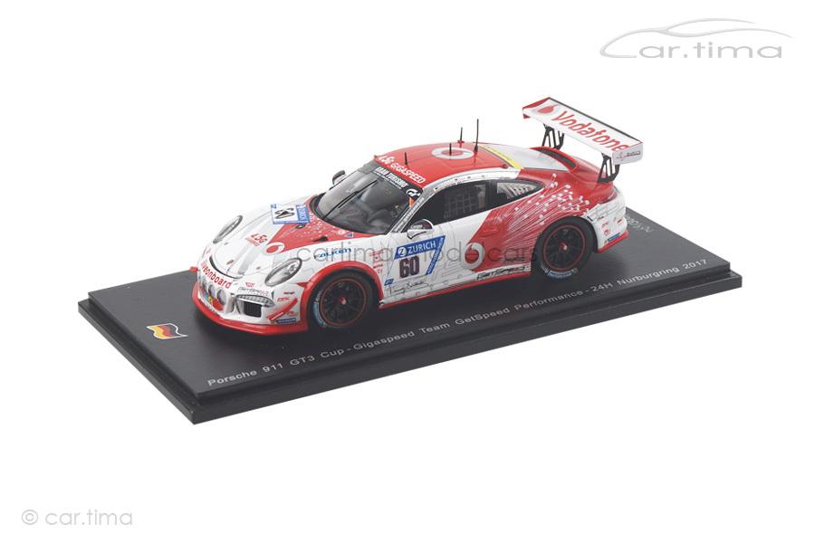 Porsche 911 (991) GT3 Cup 24h Nürburgring 2017 Jens/Trebing/Osieka Spark 1:43 SG329