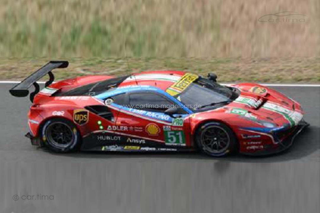 Ferrari 488 GTE Evo 24h Le Mans 2020 Calado/Pier Guidi/Serra LookSmart 1:18 LS18LM023