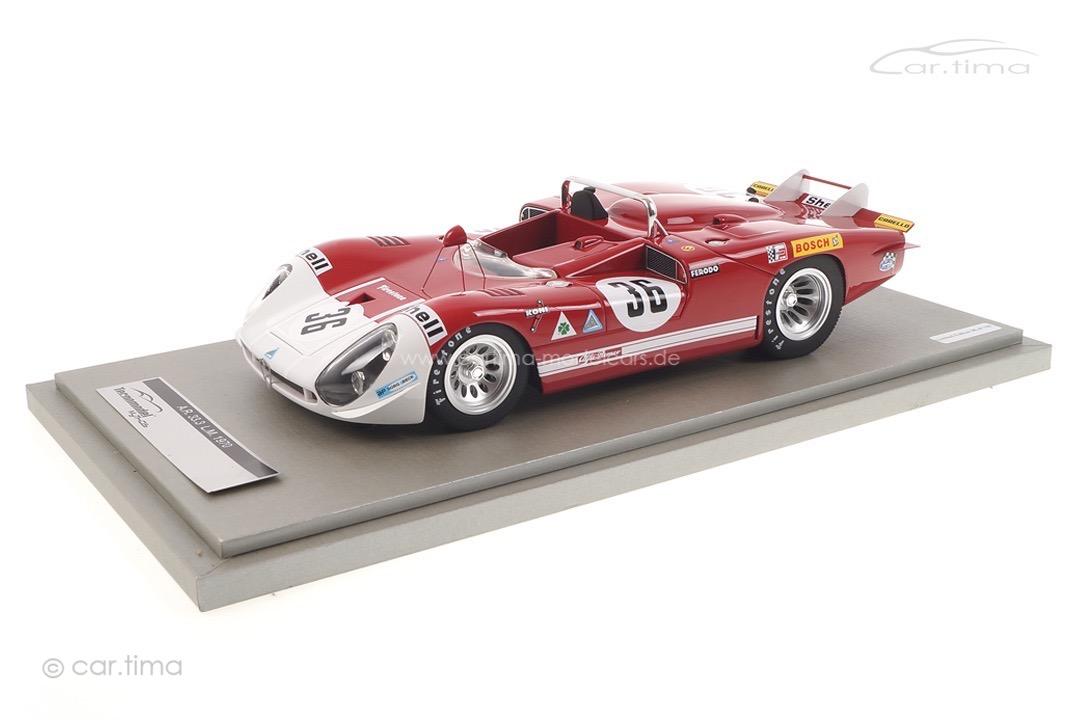 Alfa Romeo 33.3 Long Tail 24h Le Mans 1970 De Adamich/Courage Tecnomodel 1:18 TM18-27B