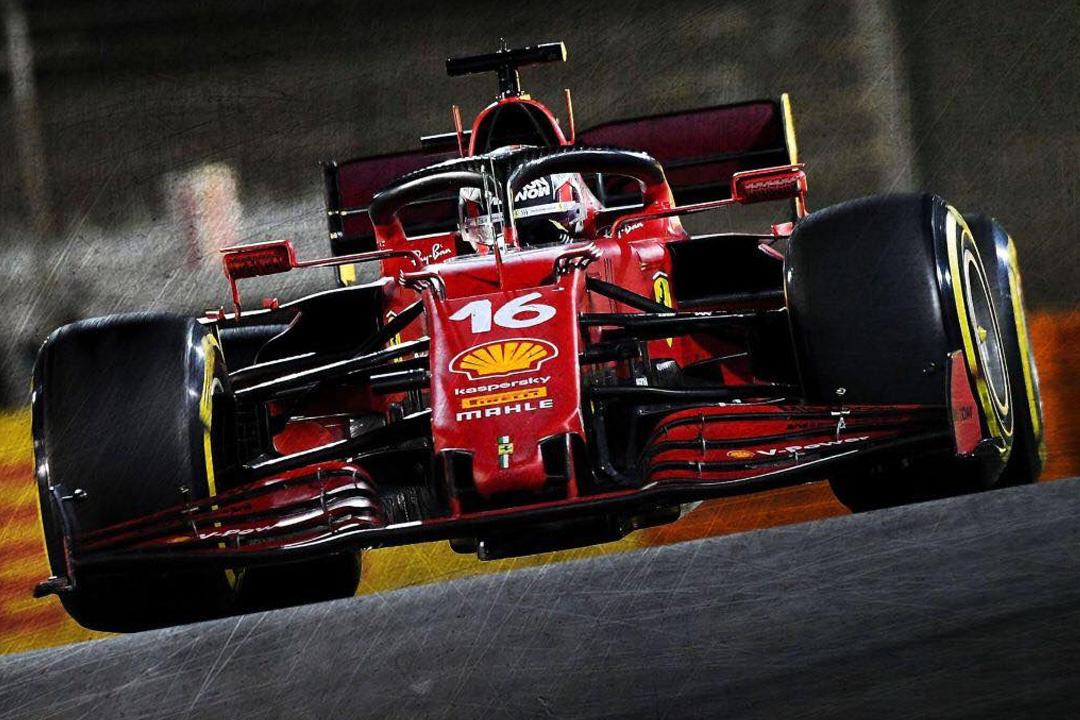 Ferrari SF21 GP Bahrain 2021 Charles Leclerc LookSmart 1:18 LS18F1035