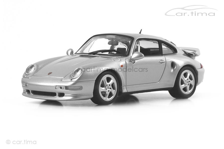 Porsche 911 (993) Turbo S Arktissilber Minichamps 1:43 CA04316002