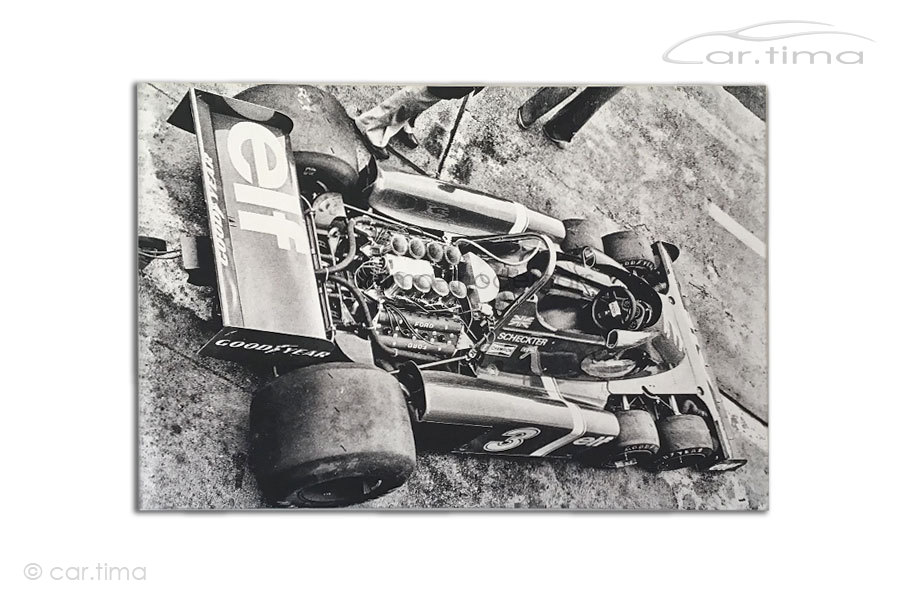 Kunstdruck auf Leinwand/Keilrahmen Tyrrell P34 Jody Sheckter 1976 115x80 cm