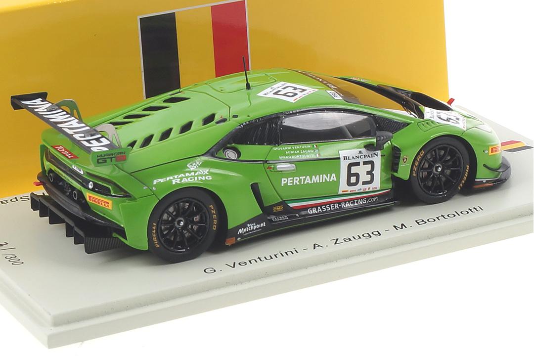 Lamborghini Huracán GT3 24h Spa 2015 Bortolotti/Venturini/Zaugg Spark 1:43 SB283