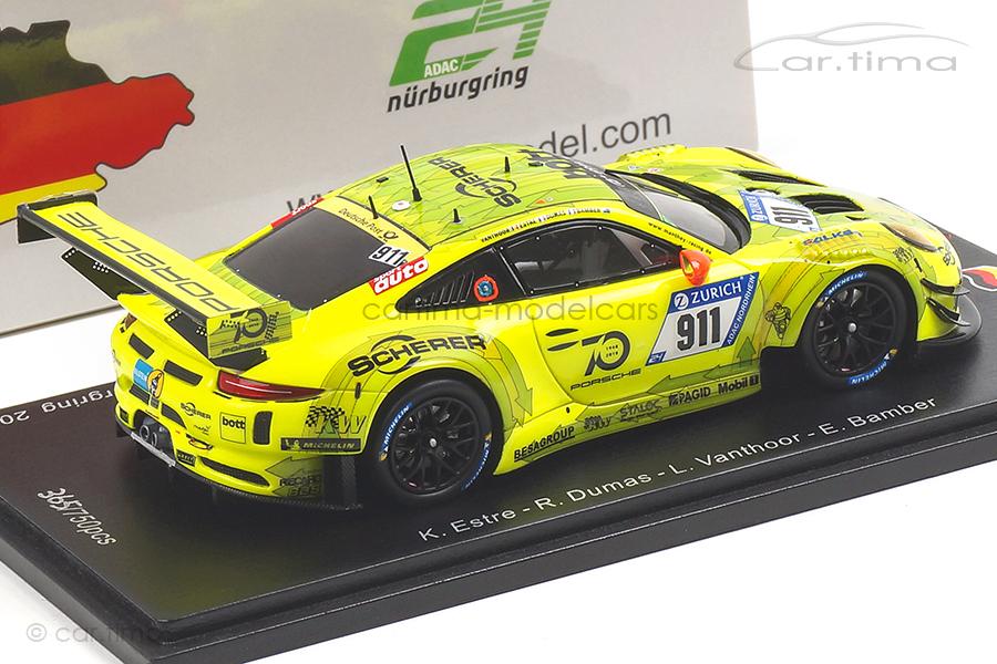 Porsche 911 GT3 R 24h Nürburgring 2018 Bamber/Dumas/Estre Spark SG421